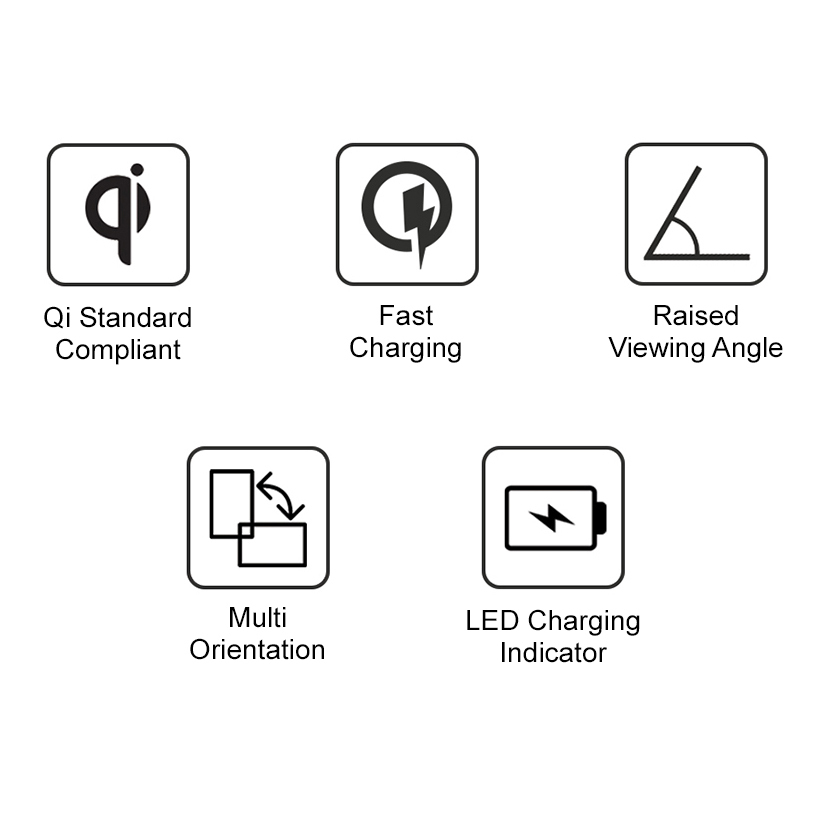 10w ismile qi certified fast wireless charging stand